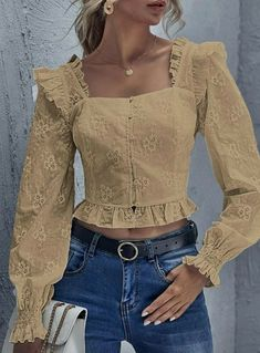 Blouse And Skirt, Girls Jeans, Casual Outfits, Blazer, Couture, Crop Tops, Womens Fashion, Shirts, Clothes