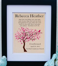 Confirmation Gift - Girls Confirmation - Godparent - Bible Verse Numbers 6:24-26 - Confirmation Sign Print - Gift from Godparents (conf301)