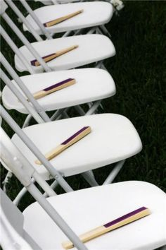 Fans for outside weddings, great idea especially for a summer wedding