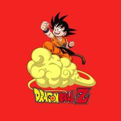 Camiseta niño Dragon Ball Z. Goku, nube mágica