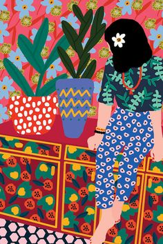 Rafaela Mascaro's Colorful and Happy Illustrations - Trend Illustration Design 2019 Art And Illustration, Illustration Design Graphique, Illustration Inspiration, Illustration Fashion, Portrait Illustration, Fashion Illustrations, Art Inspo, Kunst Inspo, Art Pop