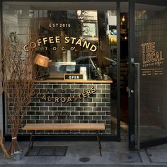 How to beat on a Monday! Our Local Coffee Stand when in Tokyo. Excellent coffee and locally roasted - Ask for the strong brew. Shop Signage, Coffee Stands, Japan Design, Tokyo Japan, Building Design, Liquor Cabinet, Brewing, Typography, Strong