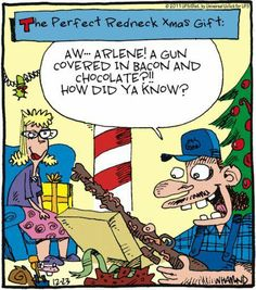 christmas humor comics cartoons funny pictures - Redneck Christmas Song