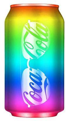 Rainbow Coca-Cola bottle can Rainbow Food, Love Rainbow, Taste The Rainbow, Rainbow Art, Over The Rainbow, Rainbow Stuff, Rainbow Things, Coca Cola Can, Always Coca Cola