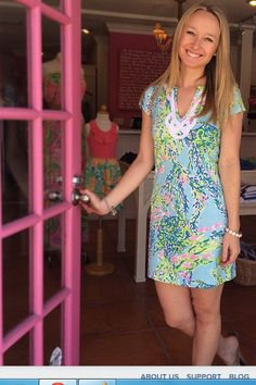 Lilly Pulitzer Brewster T-Shirt Dress via @lazydaisyvb