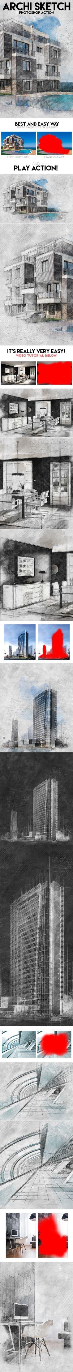 Archi Sketch Photoshop Action. Download here: http://graphicriver.net/item/archi-sketch-photoshop-action/16211716?ref=ksioks