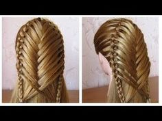 Coiffure avec tresse ღ Belle coiffure facile à faire cheveux long/mi long ღ Coiffure pour fille - YouTube