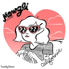 Tuesday Bassen Illustration — Cali Girl