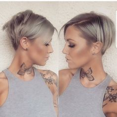 "Gefällt 8,110 Mal, 51 Kommentare - PixieCut ShortHair Blogger (@nothingbutpixies) auf Instagram: ""Front to back pixie cut on @d_w_i_l_l_o_w Who else loves these photos??? #fronttobackfriday"""