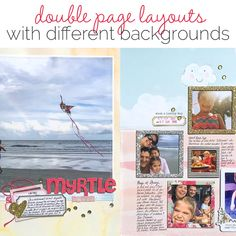 Scrapbooking Ideas for Designing Two-Page Layouts with Different Backgrounds on Each Side | Get It Scrapped