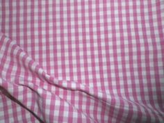 Vintage Cotton Interiors Fabric Woven Pink Gingham Check | eBay
