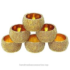 Handmade Indian Gold Beaded Napkin Rings – Set of 6 Rings  Check It Out Now     $6.80    When you're inviting friends, family members or coworkers over for dinner, you want to make an incredible impression u ..  http://www.handmadeaccessories.top/2017/03/15/handmade-indian-gold-beaded-napkin-rings-set-of-6-rings/