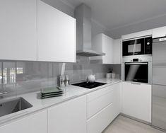 Wonderful Minimalist Interior Concrete Ideas - 10 Seductive Cool Ideas: Vintage Minimalist Decor Etsy minimalist home decoration etsy. Kitchen Room Design, Home Decor Kitchen, Kitchen Layout, Kitchen Furniture, Kitchen Interior, New Kitchen, Home Kitchens, Minimalist Kitchen, Minimalist Interior