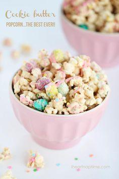 Cookie Butter popcorn recipe! Whoa.   I Heart Naptime