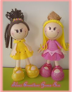 Wide variety of dolls on this site...NO patterns, NOT in English, but photo reference should be good enough to follow of each of them...SOME really adorable dolls made in Fun foam