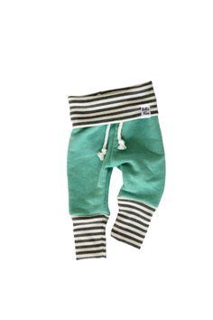baby jogging sweatpants mint stripe sweats by ShopLuluandRoo