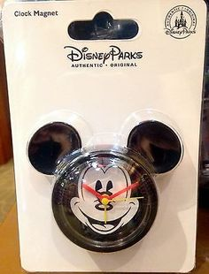 Disney Parks Mickey Mouse Clock Magnet Kitchen Timer Alarm NEW