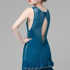 Cashmere and Silk 20th inspired Flapper dress by Elka Knitwear
