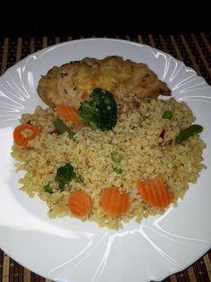 Sajtos csirkemell zöldséges bulgurral Foods, Bulgur, Food Food, Food Items