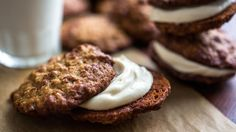 In a twist on an old classic, Melissa Clark adds soft dates and toasted coconut to oatmeal cookies, then sandwiches a thin layer of sweetened mascarpone between them.