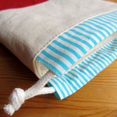 Fabric Crafts, Sewing Crafts, Sewing Projects, Sac Lunch, Produce Bags, Fabric Bags, Brown Bags, Kids Bags, Cotton Bag