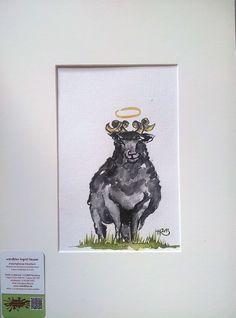 """No. 004 der wandklex-Unikatserie """"Ich war schon immer das Bunte Schaf der Familie"""" - nummerierte Einzelstücke! Ihr eigenes Schaf können Sie als Ihr Designerstück von wandklex® Ingrid Heuser, Ratzeburg, Germany bestellen:  im kleinen Klexshop bei DaWanda auf http://de.dawanda.com/shop/wandklex ©  Kunstatelier wandklex Ingrid Heuser, D-Ratzeburg Besuchen Sie mich auch auf facebook: https://www.facebook.com/wandklex"""