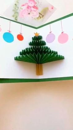 Christmas Crafts For Kids, Christmas Projects, Kids Christmas, Halloween Crafts, Holiday Crafts, Christmas Decorations, 3d Christmas Tree Card, Christmas Pictures, Halloween Decorations