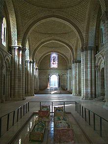 Fontevraud Abbey - King Henry II, Queen Eleanor of Aquitaine tombs are found there