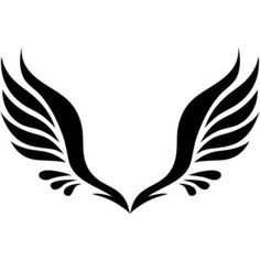 Simple Tribal Angel Wings - ClipArt Best /with quote between wings/with brave wings she flys Tatoo Art, Body Art Tattoos, Tribal Tattoos, Trendy Tattoos, Small Tattoos, Angel Wings Clip Art, Tribal Wings, Wings Png, Bird Wings