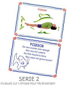 Yoga pdf 12 pagina's met afbeeldingen en versje in het frans!!!!