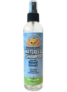 New Waterless Dog Shampoo   All Natural Dry Shampoo for Dogs or Cats No Rinse Required   100% Non-Toxic with Natural Extract   Vet and Pet Approved Treatment - Made in USA - 1 Bottle 8oz (240ml) *** Check out this great product. (This is an affiliate link and I receive a commission for the sales)