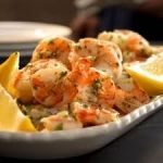 10-Minute Lemon-Garlic Marinated Shrimp Recipe-- only 84 calories per serving! #top100recipes