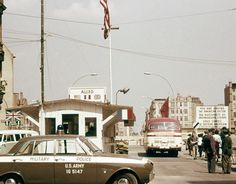 Checkpoint Charlie, seen from West Berlin, 1960s