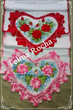Best Crochet Edging And Borders Lace Fabrics Ideas Heart Art, Fabric Painting, Lace Fabric, Pot Holders, Origami, Free Pattern, Projects To Try, Blanket, Rugs