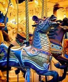 carousel horse reminds me of the state fair back in Colorado when I was little!! Awww :)
