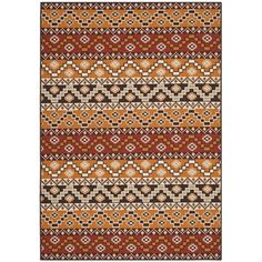 Safavieh Indoor/ Outdoor Veranda Red/ Chocolate Rug (6'7 x 9'6) | Overstock.com Shopping - Great Deals on Safavieh 5x8 - 6x9 Rugs