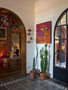 Via La Maison Boheme and Casa Chaucha Casa Chaucha. Location: Santa Fe Province of Argentina. Mexican Home Decor, Funky Home Decor, Indian Home Interior, Deco Boheme, Interior Decorating, Interior Design, Decorating Games, Home Furniture, Decoration