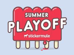 Summer Sticker Design Contest designed by Sticker Mule. Connect with them on Dribbble; Graphic Design Typography, Logo Design, Ice Cream Logo, Ice Cream Illustration, Logo Food, Sticker Design, Logo Branding, Stickers, Summer