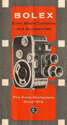 Bolex 8mm Brochure publicitaire (en)