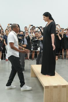 Jay-Z and Marina Abramovic.