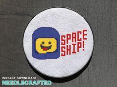 Benny Spaceship Lego Movie Cross Stitch Patterns by needlecrafted
