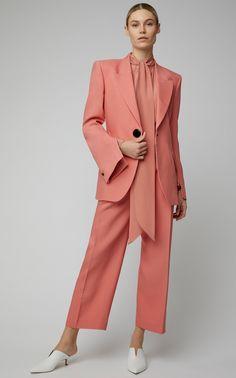Jovan Wool-Silk Blazer by Petar Petrov Fashion Line, Suit Fashion, Fashion Dresses, Womens Fashion, Fashion Top, Suits For Women, Women Wear, Power Dressing, Online Fashion Stores