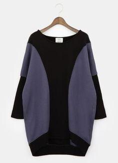 Oversized sweatshirt / ShopStyle(ショップスタイル): PLST スウェットドロップショルダービッグプルオーバー