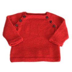 Brassière bébé Lucien - Modèle à tricoter en français - Tutoriels de tricot chez Makerist