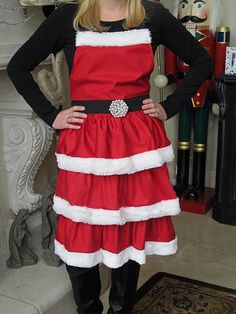 Making this next year...though I love my vintage Xmas apron
