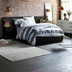 Storage Bed + Two Nightstands - Chocolate