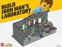 lego builds | building iron man laboratory instructions Lego Super Heroes Build the ...