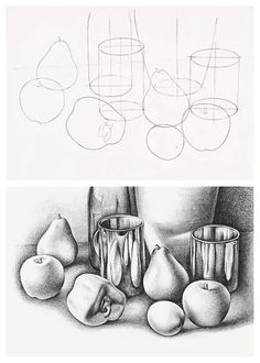 Food Still Life Pencil Drawing - Still Life Techniques Pencil Drawing Still Life Pencil Drawing Of A Pepper Focusing On Hatching Graphite Pencil Still Life Drawing Of Cherries By Stac. Pencil Drawing Tutorials, Art Tutorials, Painting Tutorials, Cool Drawings, Pencil Drawings, Hipster Drawings, Drawing Faces, Shading Techniques, Painting Techniques