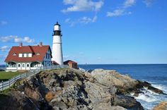 Visit 6 Lighthouses Near Portland, Maine: Portland Head Light will be one of the most memorable stops on your Maine lighthouse tour.
