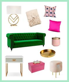 3 Pinterest-Perfect Ways to Decorate Your Colorful Couch via Brit   Co
